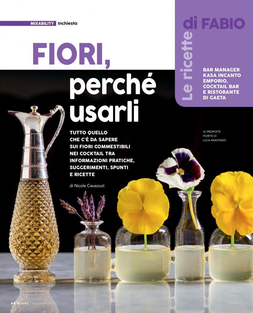 Fiori e profumi homemade nei cocktails secondo Fabio Camboni