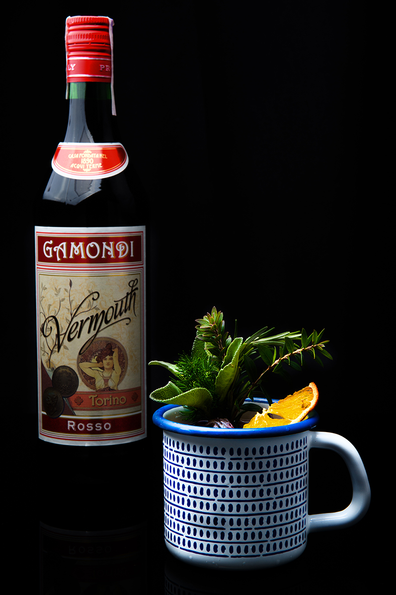 negroni del nonno signature cocktail by fabio camboni