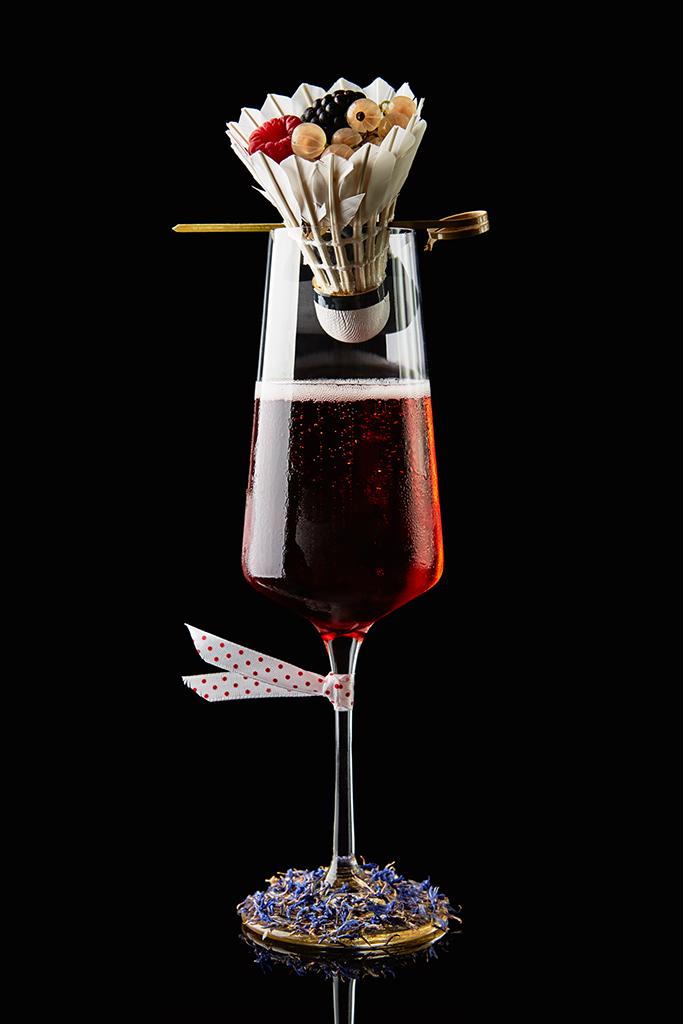 Tie Break uno champagne cocktail by fabio camboni