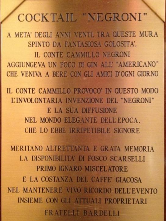 Conte Camillo Negroni Giocosa Firenze