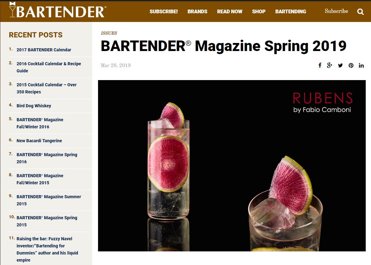 rubens bartender magazine by fabio camboni
